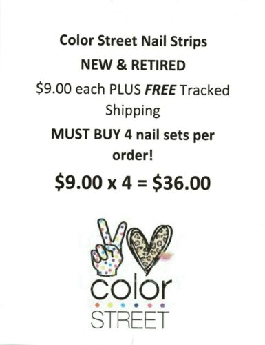 Color Street Nail Strips - $9 each - MUST BUY 4 = $36 - Free tracked shipping