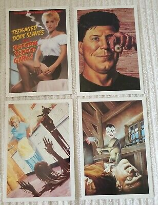 Eclipse Comics Post Card Set of 4 1989 John Bolton & Steve Vance Art F.R.S!