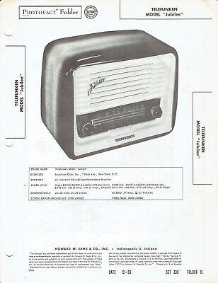 ORIGINAL 1956 Telefunken Radio