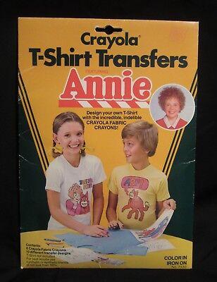Annie Crayola T Shirt Transfers 8 Fabric Crayons 10 Designs  (Crayola-t-shirt)