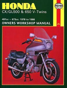 honda cx500 manual ebay rh ebay com Honda Express Sr Honda Cub