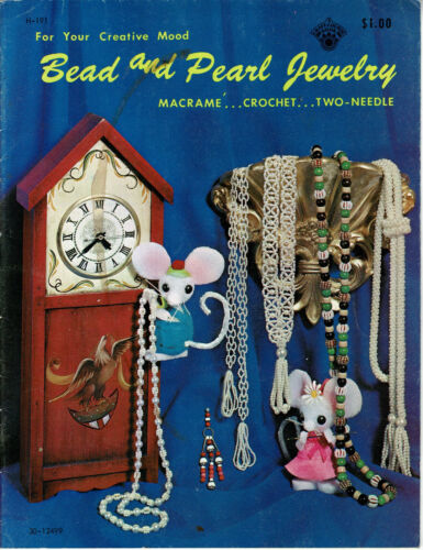 Three vintage beading pattern books - great condition