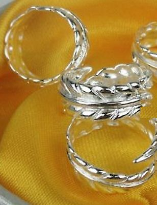 Leaf Toe Ring Adjustable NEW 925 Sterling Silver Plated Body Jewelry Wholesale