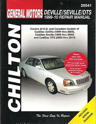 1999-2010 GM Cadillac DeVille Seville DTS Chilton Service Repair Manual 28450