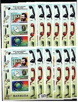 # 12X BARBUDA - MNH - COMMUNICATIONS - TELEPHONE