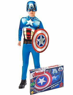Captain America-Kinderkostüm blau-weiss-rot - Cod.315993