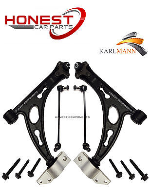 For VW TOURAN & JETTA 2 FRONT LOWER SUSPENSION WISHBONE ARMS & FRONT LINK BARS