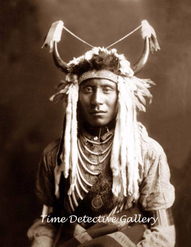 "Native American Piegan Indian ""Head Carry""  - Historic Photo Print"