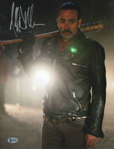 NEEGAN JEFFREY DEAN MORGAN SIGNED AUTO THE WALKING DEAD 11X14 PHOTO BECKETT 30