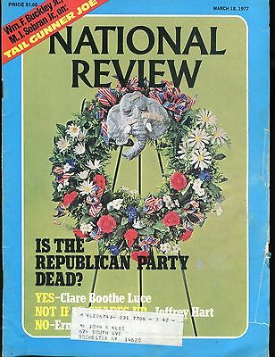 National Review Magazine March 18 1977 Clare Boothe Luce Vg W Ml 010617Jhe