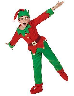 Weihnachtself Kostüm für Kinder rot-grün - Elf Kostüm Für Weihnachten
