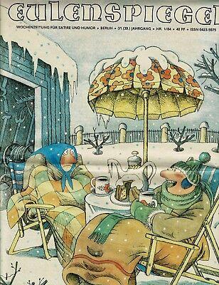 Zeitschrift, Eulenspiegel ,DDR, Satire  Nr. 1 / 1984