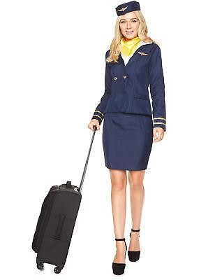 Stewardess Kostüm für Damen in blau (Stewardessen Kostüm)
