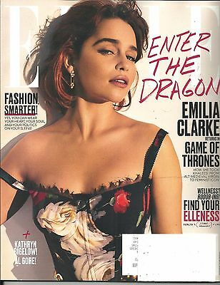 Elle August 2017 Emilia Clarke Game Of Thrones Free & Fast SnH Best Deal Ebay !!