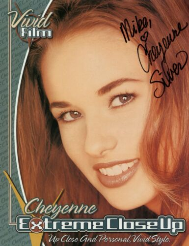 Cheyenne Silver Vivid Girl adult film actress signed photo