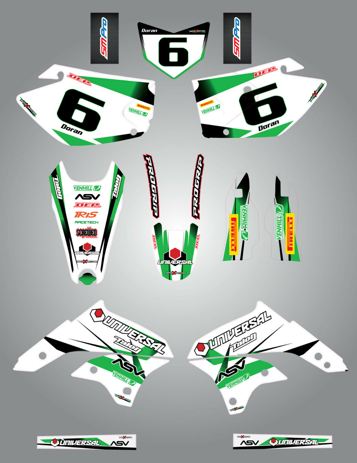 Kawasaki KLX 450  2008-2014 Full  Custom Graphics Kit BURNOUT STYLE