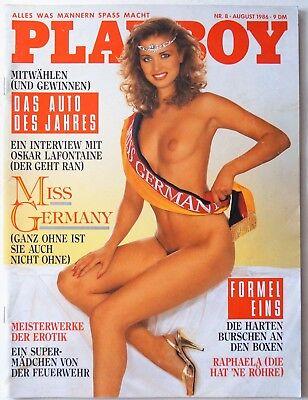 Playboy D 08/1986 August 1986 Raphaela Dell, Anke Symkowitz,Carole Ficatier