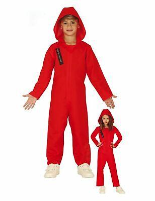 für Kinder Serienfigur Rot-schwarz Cod.324089 (Bankräuber Kostüme)