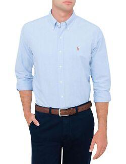 Polo Ralph Lauren Baby Blue Cotton Shirt