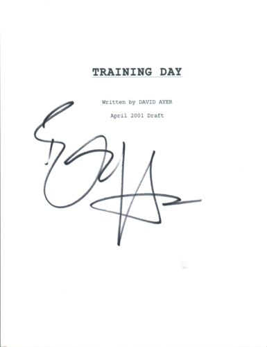Ethan Hawke Signed Autographed TRAINING DAY Full Movie Script COA