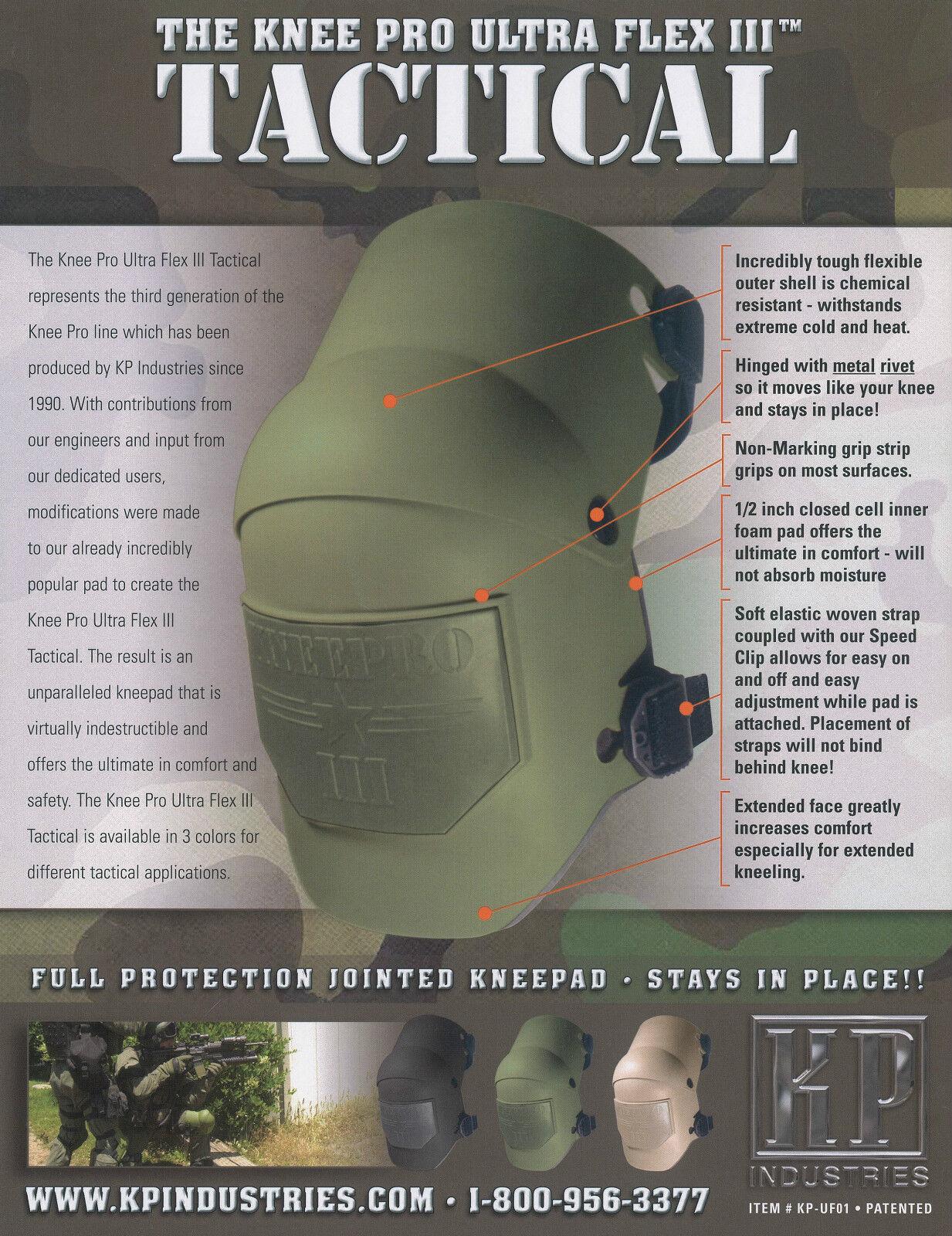 KP Industries Tactical Knee Pro Ultra Flex III Knee Pads in Black