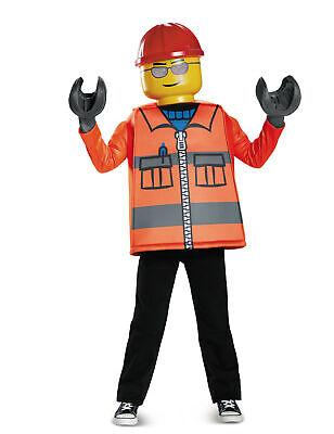 Lego-Bauarbeiter Lizenz-Kinderkostüm für Karneval orange-gelb Cod.315778 ()