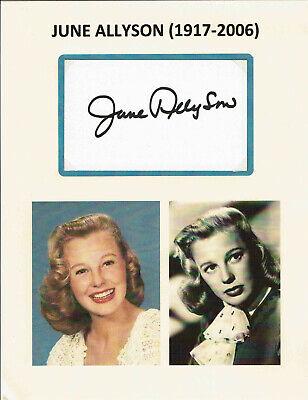 JUNE ALLYSON (+2006) - Actress - Little Women / Glenn Miller Story - Autograph
