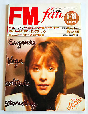 FM fan JAPAN MAGAZINE May-1987 Madonna Suzanne Vega REO Wham David Bowie