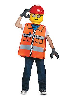 Lego-Bauarbeiter Karnevals-Lizenzkostüm für Kinder orange-bunt Cod.281295 ()