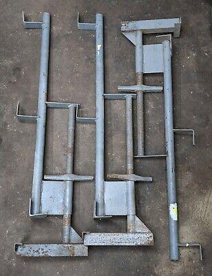 3x Scaffolding Jacks - Vintage Ladder Roofing Level Hanging