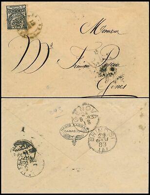 SYRIA - DAMAS 1883, RR OTTOMAN COVER TO GENOVA - ITALY, SEE... #K834