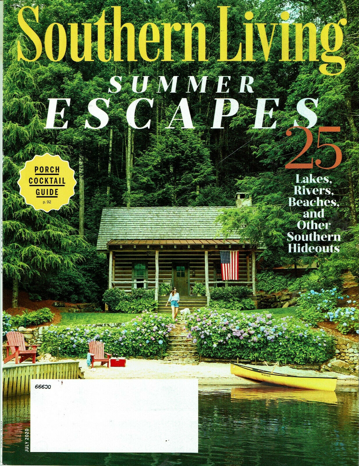 Southern Living Magazine July 2020 25 Summer Escapes Lakes Rivers Cocktail Guide - $3.99