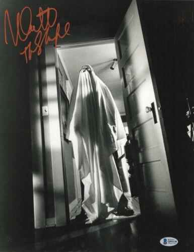 MICHAEL MYERS NICK CASTLE SIGNED AUTO 'HALLOWEEN' 11X14 PHOTO BECKETT BAS COA 32