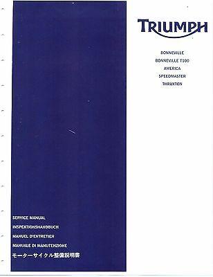 Triumph service manual 2004, 2005, 2006, 2007, 2008 Thruxton & Scrambler