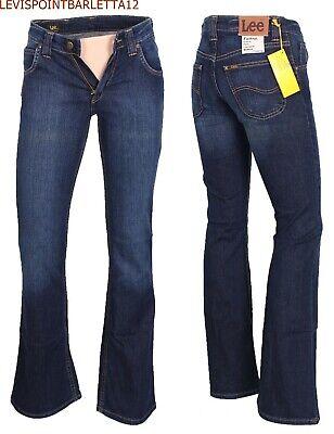 Jeans Lee da donna uomo a zampa di elefante campana svasati felton 40 42 44