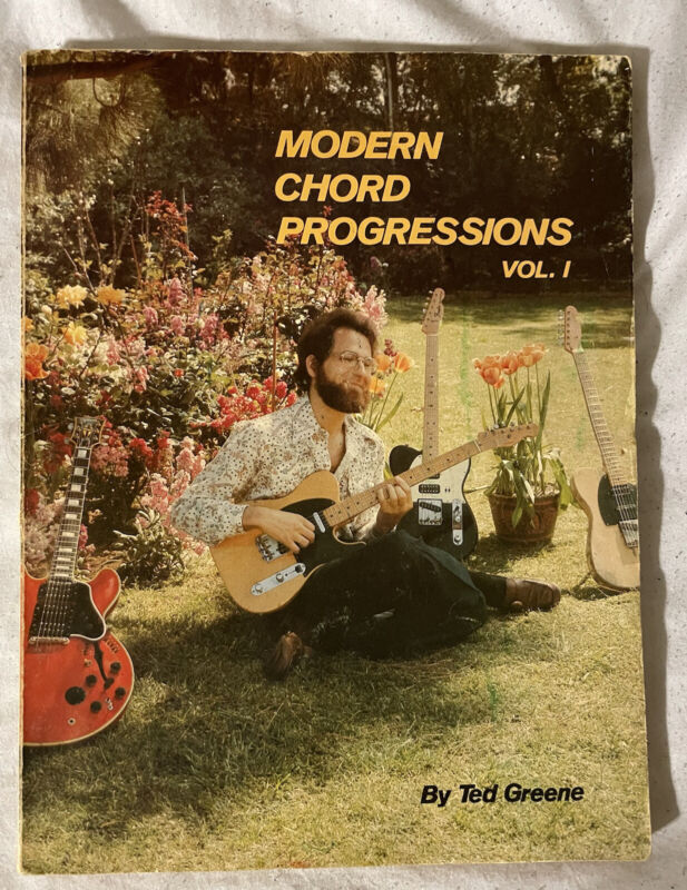 Vintage 1976 Modern Chord Progressions Vol. 1 by Ted Green Rare Cover