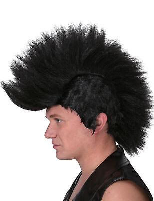 Schwarze Punk Perücke für Männer Cod.79925