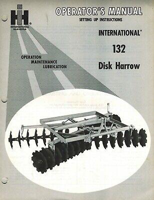 International 132 3-point Hitch Disc Harrow Operators Manual