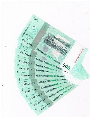 CONGO P100 10X500 FRANCS COMMEMORATIVE 50 YEARS INDEPENDANCE 30-6-2010 UNC