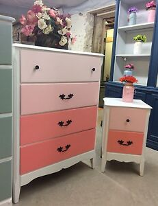 Ombré Dresser and night stand  Peterborough Peterborough Area image 2