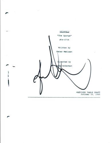 """Jason Alexander Signed Autograph SEINFELD """"The Sponge"""" Episode Script COA"""