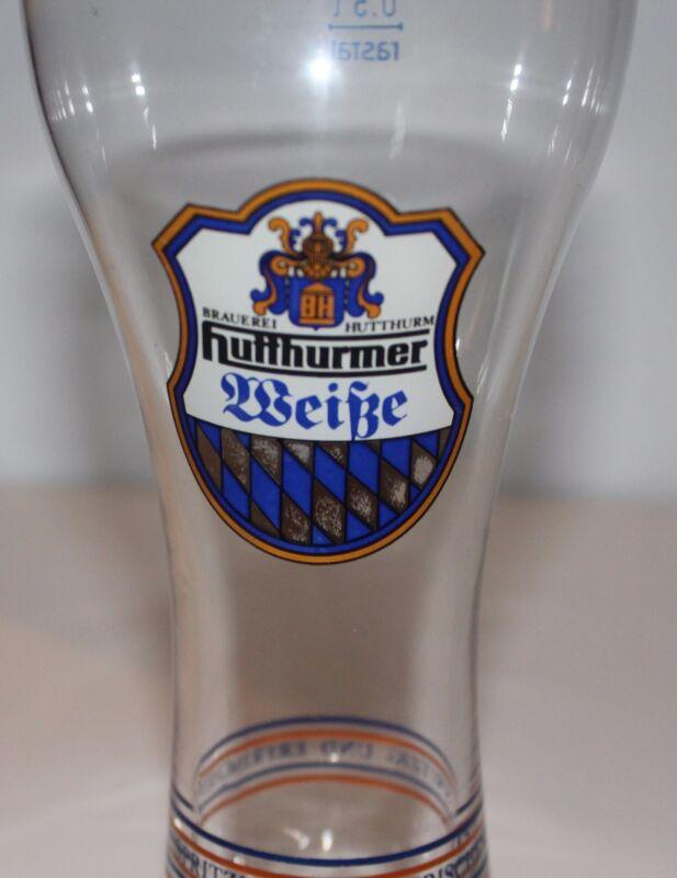 """Brauerei Hutthurm Huffhurmer Pilsner Beer Glass 9.25"""" Tall"""