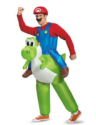 Aufblasbares Nintendo Carry-Me-Kostüm Mario auf Yoshi Lizenzware grün-blau-rot - Carry Me Kostüm