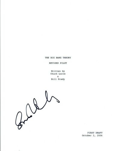 Simon Helberg Signed Autographed THE BIG BANG THEORY Pilot Episode Script COA VD