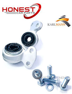 For BMW E46 3 Series Front Lower Suspension Wishbone Arm Bushs & Bolts KARLMANN