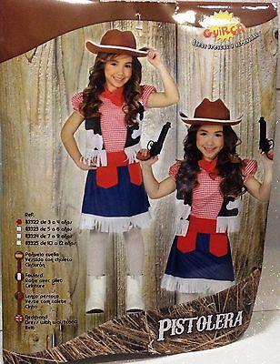 CARNEVALE HALLOWEEN PURIM VESTITO COWGIRL BABY COW GIRL 3/4 ANNI  - Baby Girl Cowgirl Halloween Costumes