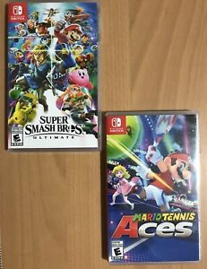 Switch Games_Super Smash Bros + Mario Tennis