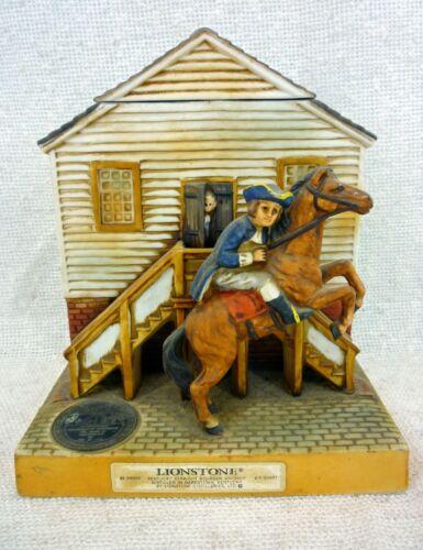 Very Rare Paul Revere Lionstone Sculptured Porcelain Decanter