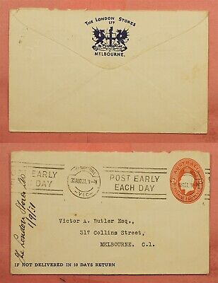 1931 AUSTRALIA THE LONDON STORES ADVERTISING STATIONERY MELBOURNE (Australia Stores)