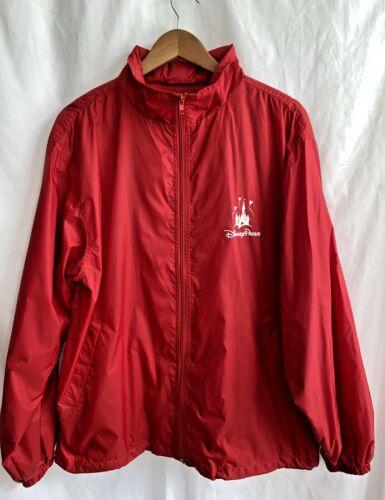 DISNEY Parks Clique Red Full Zip Lightweight Windbreaker Rain Jacket Size M